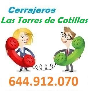 Telefono de la empresa cerrajeros Las Torres de Cotillas